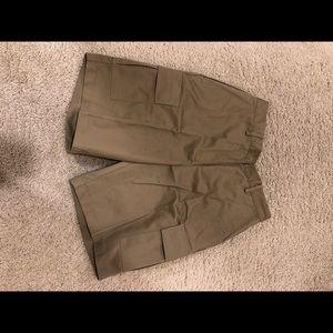 A pair of women's tan shorts